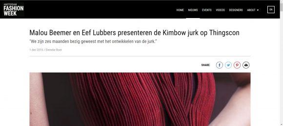 Amsterdam Fashionweek interview